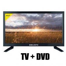 "TELEVISORE MAJESTIC 19.5"" HD READY DVX-2120/S2 + LETTORE DVD/MPEG4 - 12/220VOLT"