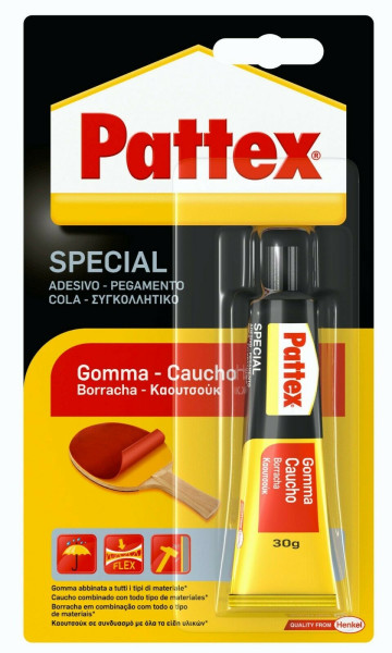 Pattex 1479389 Adesivo per Gomma 30 g