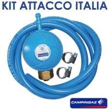 KIT REGOLATORE TUBO FASCETTE ATTACCO ITALIA