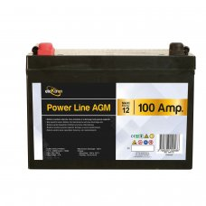 BATTERIA POWER-LINE AGM - 100AH - LARGxALTxPROF 306 x 215 x 169 mm