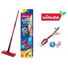 VILEDA FLOOR CLEANING EASY TWIST SISTEMA PVC MICROFIBRA ROSSO 8 X 14 X 54 CM