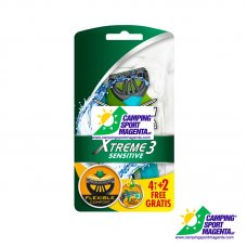 RASOIO USA E GETTA TRILAMA - Xtreme3 Comfort Plus Sensitive blister x 4+2