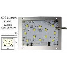 MODULO LED 500 LM LUCE BIANCO FREDDO mod.LV24 12V 6500°K