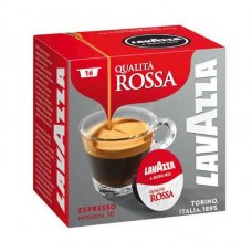 16 CAPSULE LAVAZZA - ESPRESSO QUALITA ROSSA INTENSITA 10