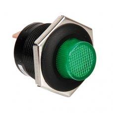 INTERRUTTORE A PULSANTE CON LED 12/24V - Verde