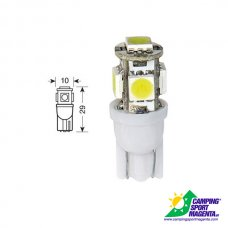 CP. LAMPADINE HYPER-MICRO-LED T10 5SMD (15CHIPS)