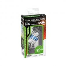COPPIA LAMPADE XENON-ULTRA H4 +90% 12V 60/55W