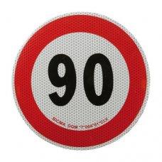 Contrassegno limite velocità - 90 Km/h
