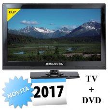 TELEVISORE MAJESTIC 15.6' DVX 2154D/S2 LED MP08 + DVD - 12/220V