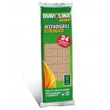 DIAVOLINA ACCENDI GRILL NATURALE 24 acc.