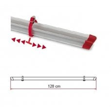 CANALINA PORTABICI FIAMMA - RAIL 128 RED E 2 STRIP