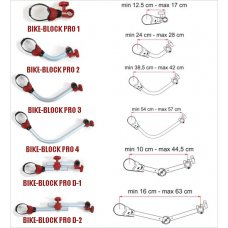 SISTEMA BLOCCAGGIO FIAMMA BIKE-BLOCK PRO 4 RED