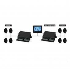 SENSORI PARCHEGGIO ANTERIORI E POSTERIORE 8 SENSORI CON LCD - PSS3