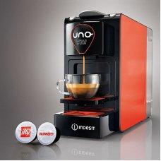 MACCHINA CAFFE UNO SYSTEM RED&BLACK (con 32 capsule)