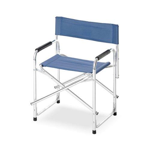 Sedie Pieghevoli Regista Alluminio.Sedia Regista Alluminio Camping Lusso Blu