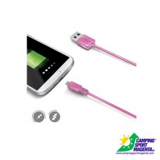USB DATA CABLE MICROUSB PINK
