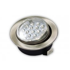 FARETTO ORIENTABILE 1W 18 LED 3528 NICKEL