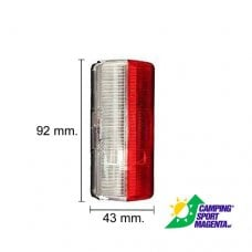 2PZ LUCE INGOMBRO LATERALE BIANCO/ROSSO12V - 43X92X37 MM