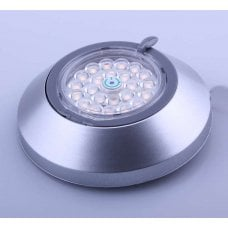 FARETTO ORIENTABILE 1W - 24LED 3000K ARGENTO - INTERRUTTORE TOUCH - DIAM.68MM