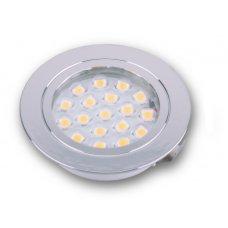 SPOT INCASSO 1.2W 18 LED CROMO - BIANCO CALDO