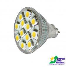 FARETTO DICROICO A 12 LED MR11BIANCO  freddo 150LM.  2,5W