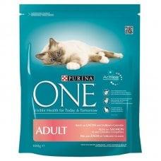 ONE - CROCCHETTE ADULT Cat SALMONE E CEREALI INTEGRALI 800g
