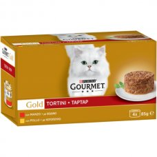 GOURMET - GOLD TORTINI MANZO&POLLO 4X85G