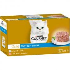 GOURMET - GOLD TORTINI TONNO&SALMONE 4X85G