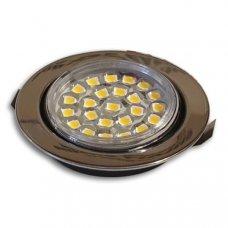 FARETTO ORIENTABILE 1.6W 24 LED CROMATO CON CAVO CONNESSIONE