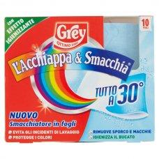 GREY LACCHIAPPAC&SMACCHIA TUTTO A 30° 10 FOGLI