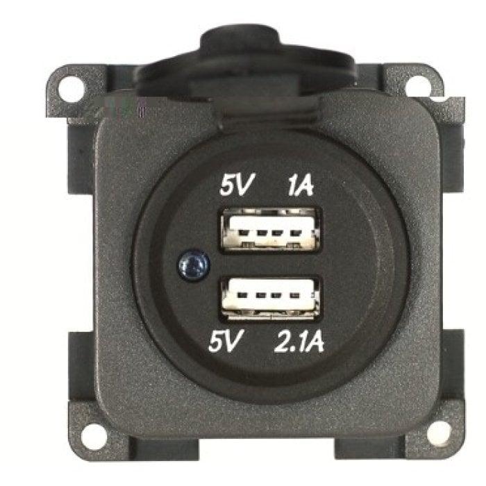2,1A CAMPER ROULOTTE MP2USB//G PRESA DOPPIA USB 5V 1A