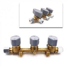 BLOCCO VALVOLE GAS A 3 VIE - 8 MM