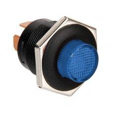 INTERRUTTORE A PULSANTE CON LED 12/24V - Blu