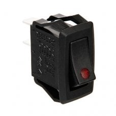 INTERRUTTORE CON LED - 12/24V - Rosso