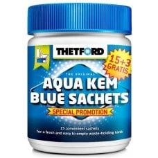 SACCHETTI WC - AQUA KEM BLUE 15+3 SACHETS THETFORD