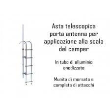 ASTA TELESCOPICA PORTA ANTENNA PER APPLICAZIONE ALLA SCALA DEL CAMPER