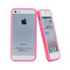 PROMO BUMPER PINK FOR IPHONE 5/5S + SCREEN