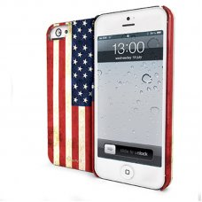 PROMO VINTAGE USA FLAG COVER FOR IPHONE 5/5S