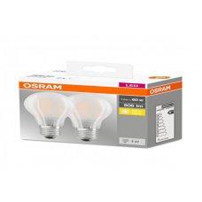 OSRAM BASE CLASSIC LAMPADA LED E27, 7.2 W, BIANCA - 2 LAMPADE