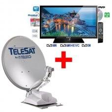 KIT ANTENNA TELECO TELESAT BT 65 SENZA PANNELLO + TELEVISORE TEK19D RV