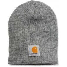 CAPPELLO CARHARTT - C-A205HGY ACRYLIC KNIT HAT HEATHER GREY ONE SIZE