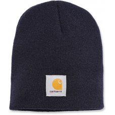 CAPPELLO CARHARTT - C-A205NVY ACRYLIC KNIT HAT NAVY ONE SIZE