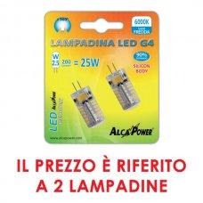 2PZ LAMPADINA BISPINA LED G4 10-14 V 200LM 6000K