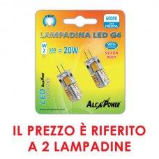 2PZ LAMPADINA LED BISPINA G4 10-14V 2W 160LM 6000K
