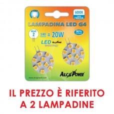 2PZ LAMPADINA LED BISPINA G4 9-30V 2W 140LM 6000K - APG4R30F