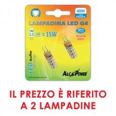 2PZ LAMPADINA LED BISPINA G4 10-14V 1.5W 120LM 6000K - APG4F