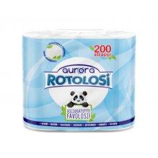 CARTA CUCINA AURORA ROTOLOSI 2 ROTOLI 2 VELI 200 STRAPPI