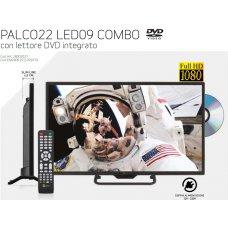 TELEVISORE - PALCO22 COMBO LED09C FHD SLIM T2/S2 SAT/DTT CON LETTORE DVD