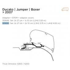 ADAPTER THULE VAN FIAT DUCATO, JUMPER, BOXER DOPO IL 2007 6200/6300 A TETTO