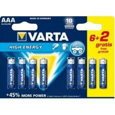 VARTA - LONGLIFE POWER AAA BLISTER (6+2)